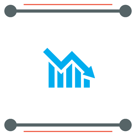 Declining Graph vector icon
