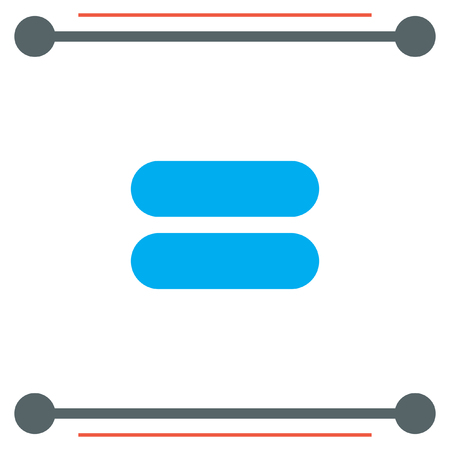 equals: Equal Sign vector icon