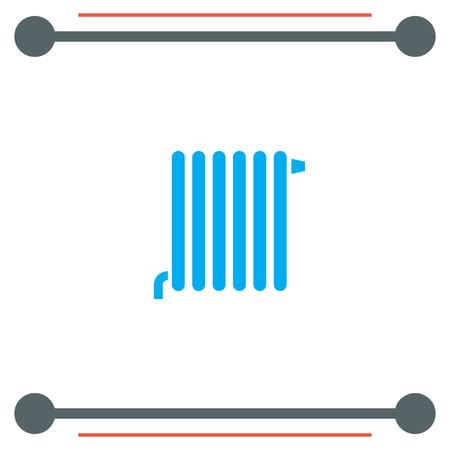 radiador: Radiador del icono del vector