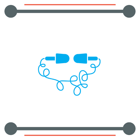earbud: Headphones vector icon Illustration