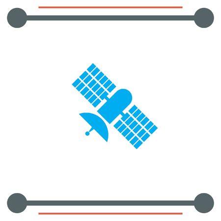 space antenna: Satellite vector icon Illustration