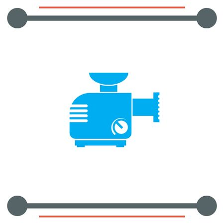 meat  grinder: Meat Grinder Machine vector icon Illustration