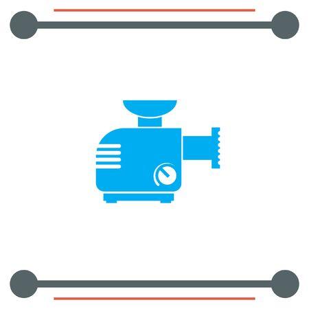 grinder: Meat Grinder Machine vector icon Illustration