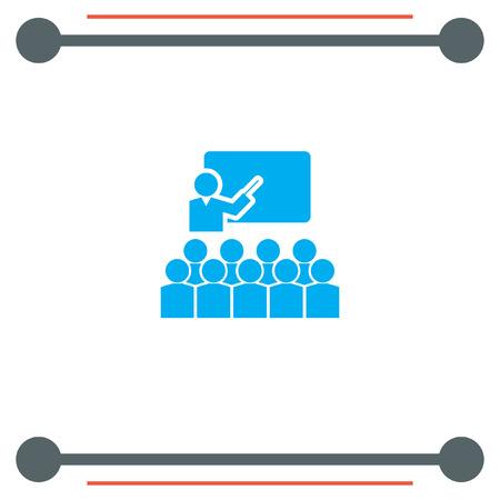 school meeting: Students in Classroom vector icon