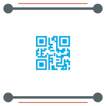 QR Code vector icon Illustration