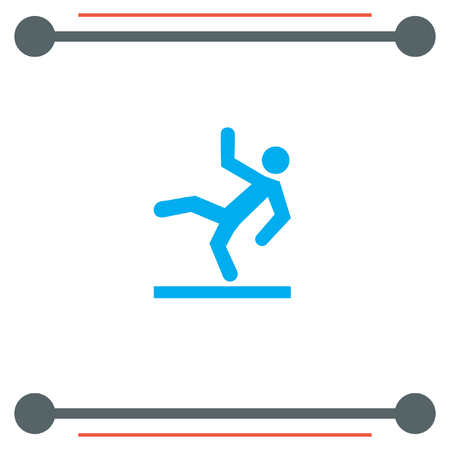 is wet: Slippery Wet Floor vector icon