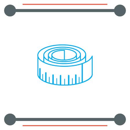cintas metricas: Medida del icono del vector de la cinta