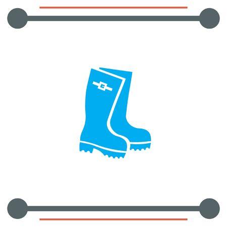 galoshes: Rain Boot vector icon