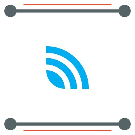 publishes: RSS News Feed vector icon