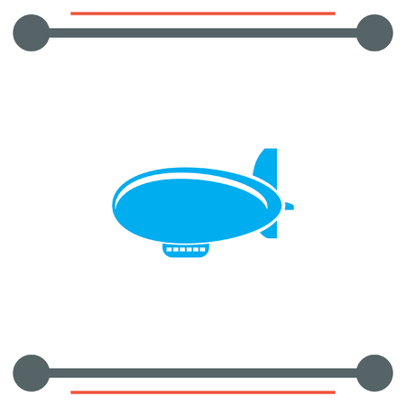 luftschiff: Airship Zeppelin-Vektor-Symbol Illustration
