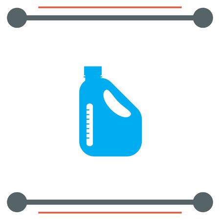 refuel: Jerrycan Oil Can vector icon Illustration