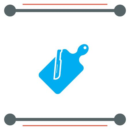 cutting: Cutting Board vector icon Illustration