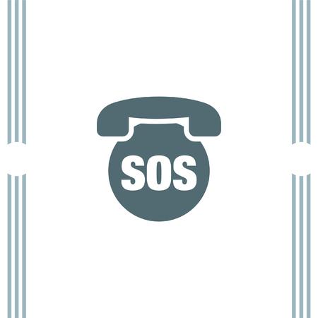 phone icon: SOS Phone vector icon