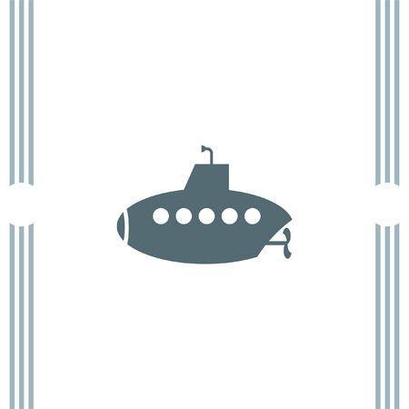 sonar: icone vettoriali Submarine Vettoriali