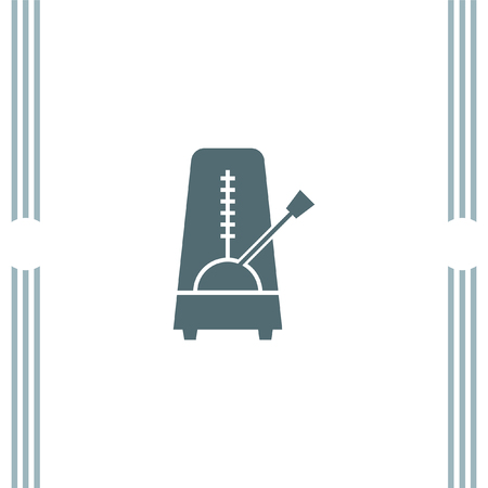 tempo: Metronome vector icon Illustration