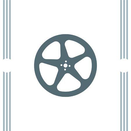 movie film: Movie Film Reel vector icon Illustration