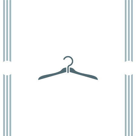 clothing rack: Hanger vector icon