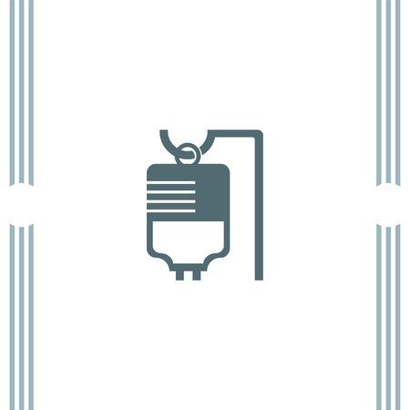 iv: IV Bag Medical vector icon Illustration