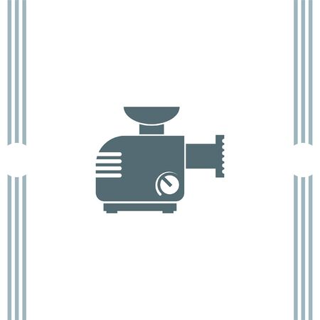 Meat Grinder Machine vector icon Illustration