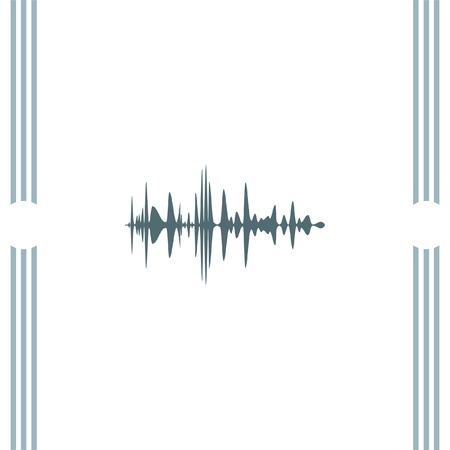 amplifiers: Audio signal vector icon