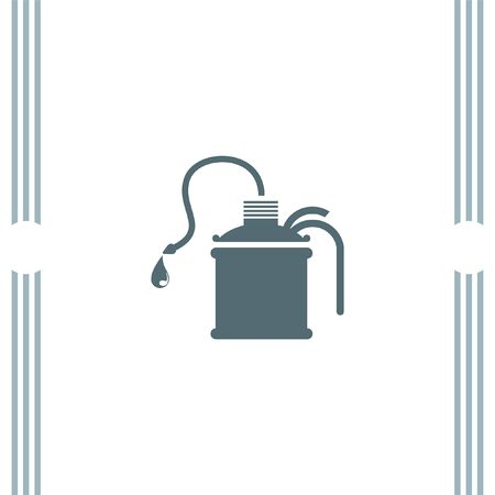 oiler: Oil can vector icon Illustration