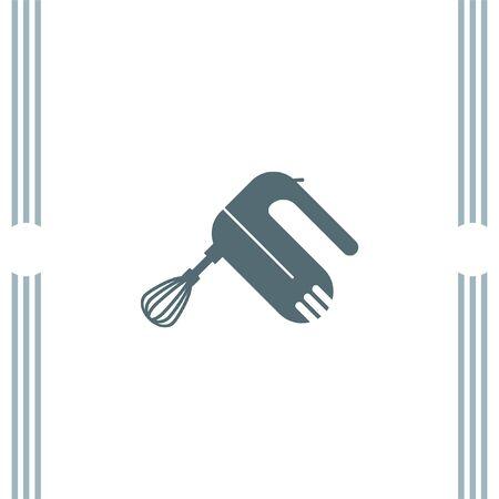 batidora: Trituradora de mezclador de la cocina del vector del icono Vectores