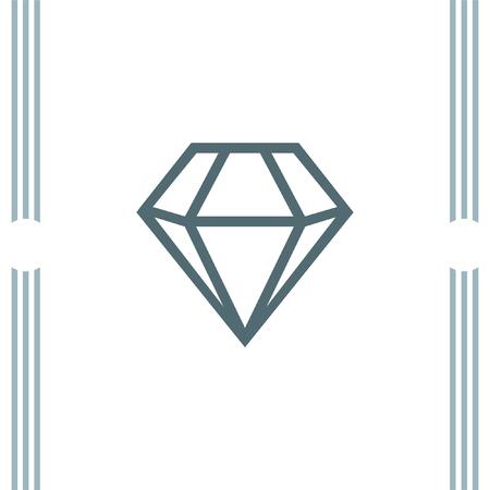 carats: Diamond vector icon