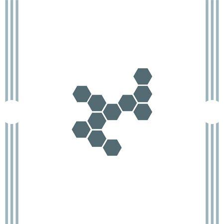 Estructura molecular del vector del icono