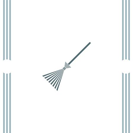 broom handle: Broom vector icon