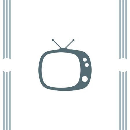home entertainment: Television Tv vector icon