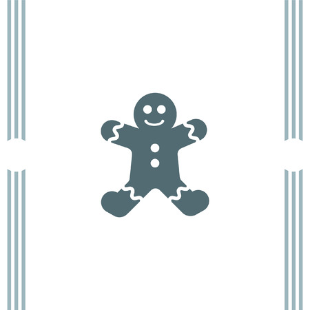 gingerbread cake: Gingerbread vector icon