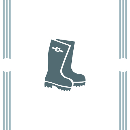 gumboots: Rain Boot vector icon