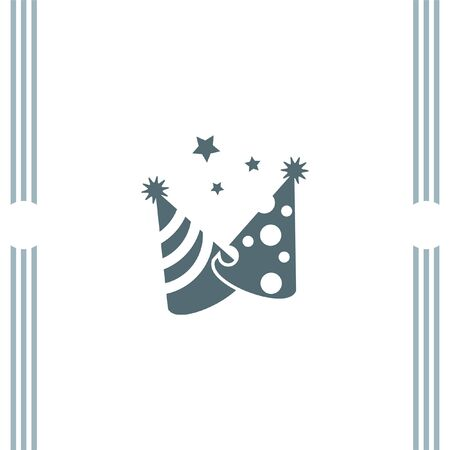 new year's cap: Party Hat vector icon Illustration