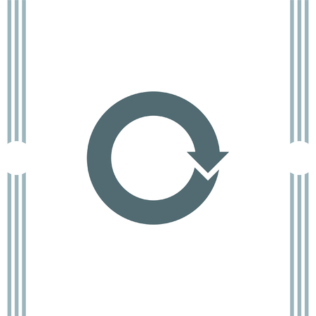 circular arrow: Circular Arrow sign icon Illustration