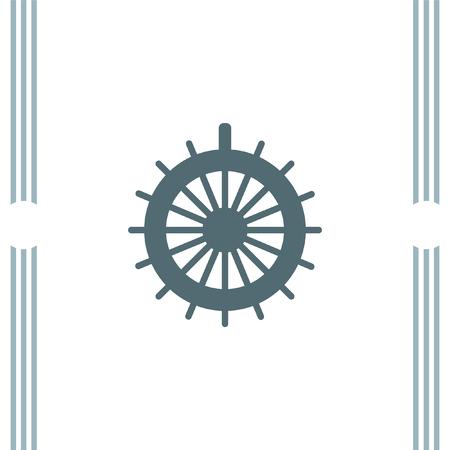 ruder: Rudder Vektor-Symbol Illustration