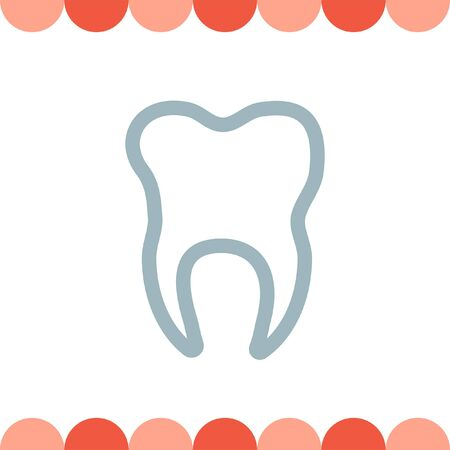 dent: Tooth vector icon Illustration