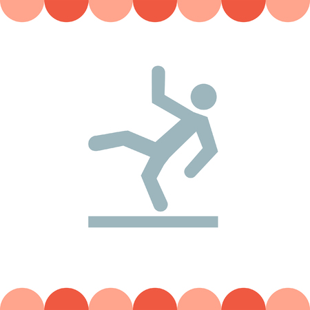 slippery warning symbol: Slippery Wet Floor vector icon