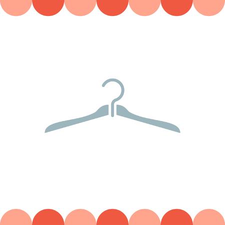 clothing rack: Hanger vector icon