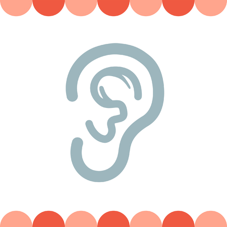 perception: Ear vector icon