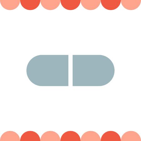 antibiotics: Pill vector icon