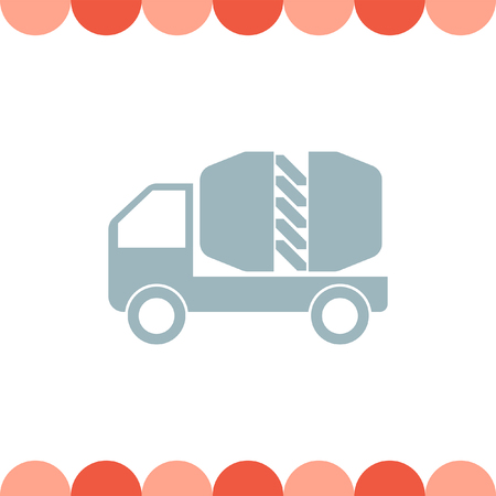 cement: Cement Truck vector icon