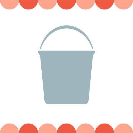 paint container: Water Bucket vector icon Illustration