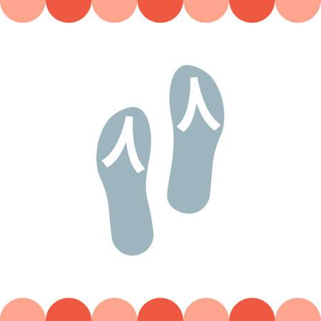 flip flops: Flip Flops vector icon