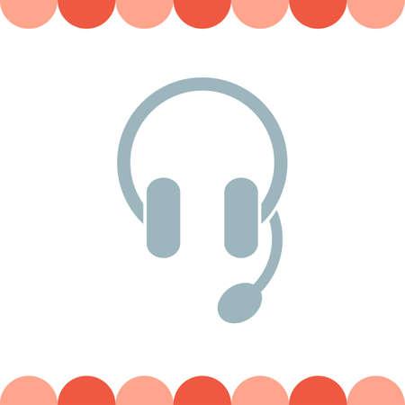 telephone operator: Headphones Headset vector icon