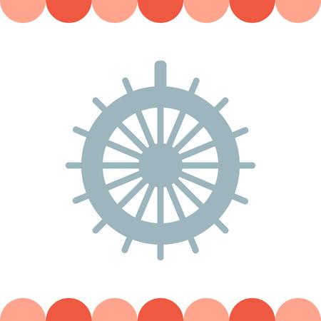 Steuerruder: Rudder Vektor-Symbol Illustration