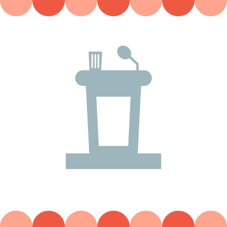 presenter: Podium public speaking vector icon