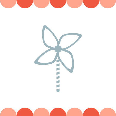 sign  childhood: Kid Windmill Toy vector icon