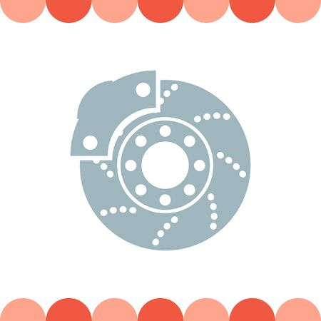 spare part: Car Clutch vector icon Illustration