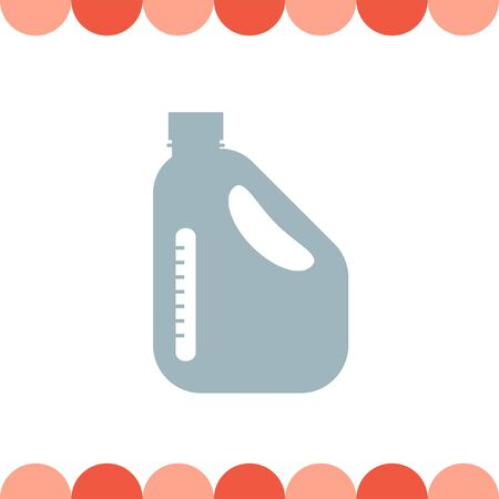 oil can: Jerrycan Oil Can vector icon Illustration