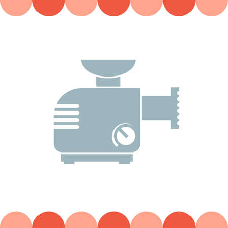 Meat Grinder Machine vector icon Illustration